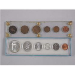 2x Coin Sets - 1967 Silver in Acrylic Display and