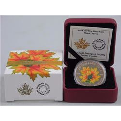RCM .9999 Fine Silver $20.00 Coin 'Maple Leaves' (