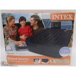 INTEX QUEEN AIR MATTERESS WITH BUILT IN PUMP