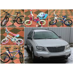 FEATURED BIKES AND A 2005 CHRYSLER PACIFICA