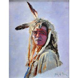"""Oglala Warrior"" by John C. Gawne"