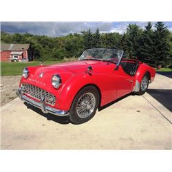 FRIDAY NIGHT 1960 TRIUMPH TR3A 2-DOOR CONVERTIBLE
