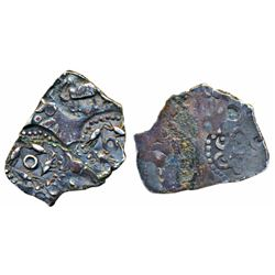 Archaic Punch Marked Coinage, Silver ½ Vimashatika,  1.30g