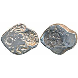 Archaic Punch Marked Coinage, Silver ½ Karshapana,  2.12g