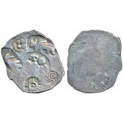 Archaic Punch Marked Coinage, Silver Vimshatika,  4.68g