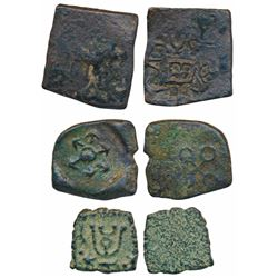 Post-Mauryan Period,  Copper (3),  0.97g