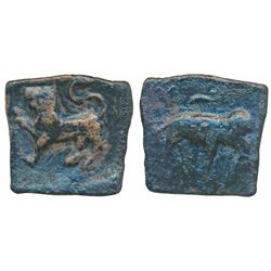 Ancient Chola,  Sangam Age,  Copper Square Unit,  2.56g