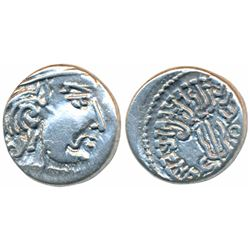 Maitrakas of Vallabhi,  Silver Drachma,  1.83g