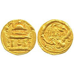 Western Chalukyas or Feudatories,  Gold Gadyana, 2.15g