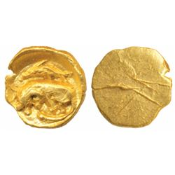 Cholas,  Gold Fanam,  0.43g