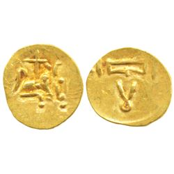 Imperial Gangas of Orissa,  Gold Double Fanam,  0.49g