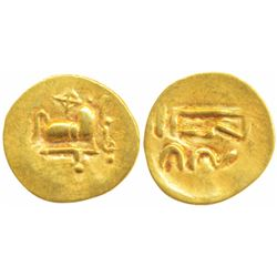 Imperial Gangas of Orissa,  Gold Double Fanam,  0.50g