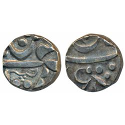 Panhala Mint,  Silver ½ Rupee,  5.6g,  (M&W T1). Extremely Fine