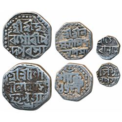 Gaurinatha Simha,  Silver ½,  ¼ and 1/16 Rupee