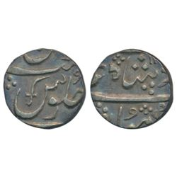 Anand Rao (AH 1215-1235,  1800-1819 AD),  Silver ½ Rupee,  5.67g