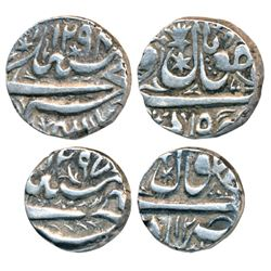 Shah Jahan Begam ,  Silver Rupee and ½,  Bhopal Mint
