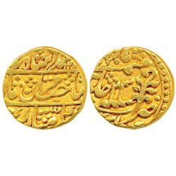 Mughal Issue,  Gold Mohur,  10.9g,  Sawai Jaipur Mint