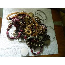 LARGE LOT OF ASSORTED METAL JEWELRY - FROM ESTATE SOME AS-IS - FLAT SHIPPING RATE DOES NOT APPLY (it