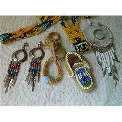 LOT OF ASSORTED FIRST NATIONS JEWELRY - SOME AS-IS SOME SILVER
