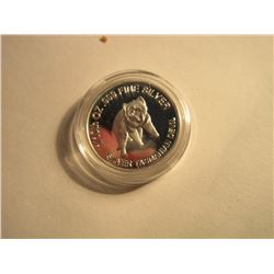 SILVER ROUNDS - .999 SILVER TASMANIAN DEVIL ROUNDS AUSTRALIAN MINT SEALED - 5GM