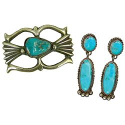 Navajo Buckle & Earrings