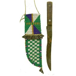 Plains Beaded Sheath & Knife