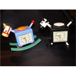 Pair Sunko Alarm Clocks Horse/Cow