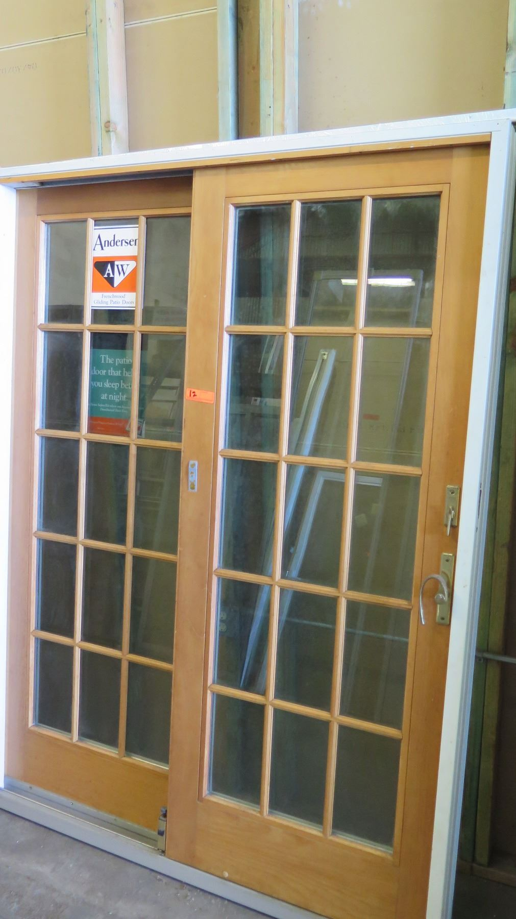 Andersen 2 panel frenchwood patio sliding doors 56 1 2 for 1500 french doors