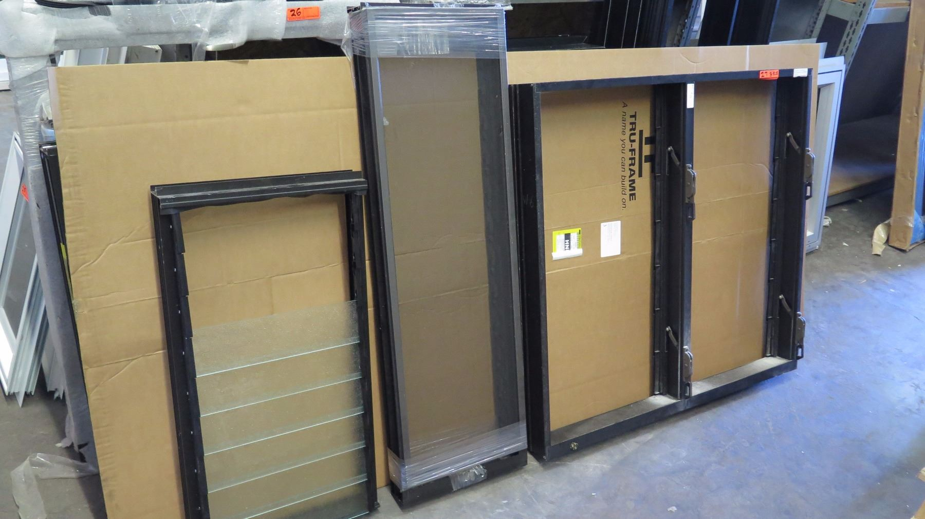 qty 3 misc jalousie windows various sizes bronze anodized block frame oahu auctions. Black Bedroom Furniture Sets. Home Design Ideas