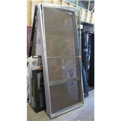 Lrg Commercial Grade Jalousie Doors w/Screen Clear Anodized 38-1/  sc 1 st  Oahu Auctions & SCREENS \u0026amp; THINGS WINDOWS AND DOORS AUCTION - Session 1 - Page 1 ...
