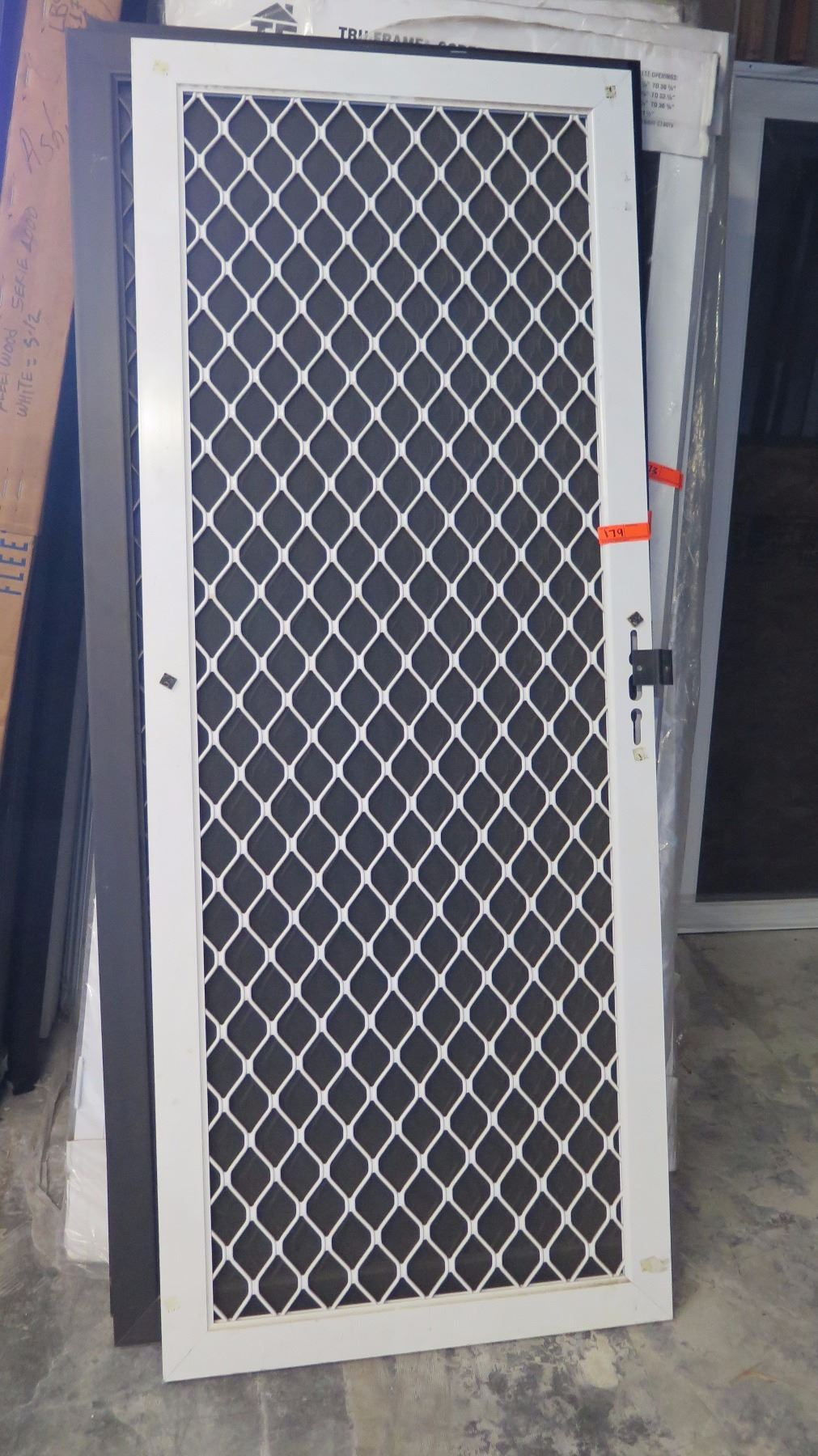 Security Screen Door 31 38 X 79 316 Diamond Pattern Grill