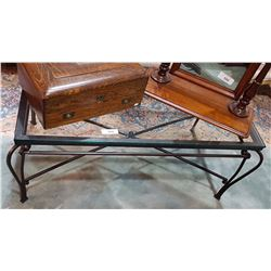 Glass Top Wrought Iron Coffee Table