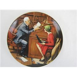 1986 Collectible Limited Edition The Professor by Norman Rockwell