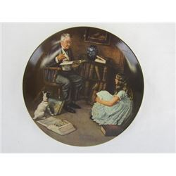 1984 Collectible Limited Edition The Storyteller by Norman Rockwell