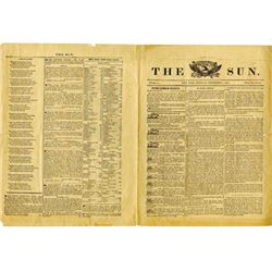 The Sun, 1833 - Issue #1.