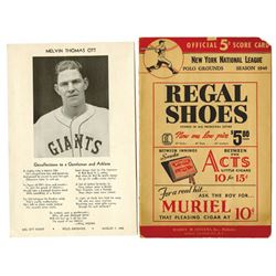 New York National League Official Score Card ca.1920-1940