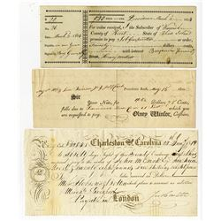 Checks, Receipts and Bills, ca.1802-1814 Trio.