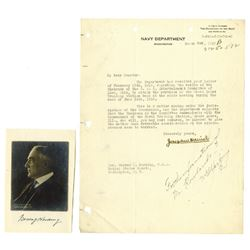 Warren G. Harding Signature on 1919 Letter When a U.S. Senator