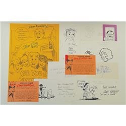 Collection of Autographs and Drawings from Cartoonists