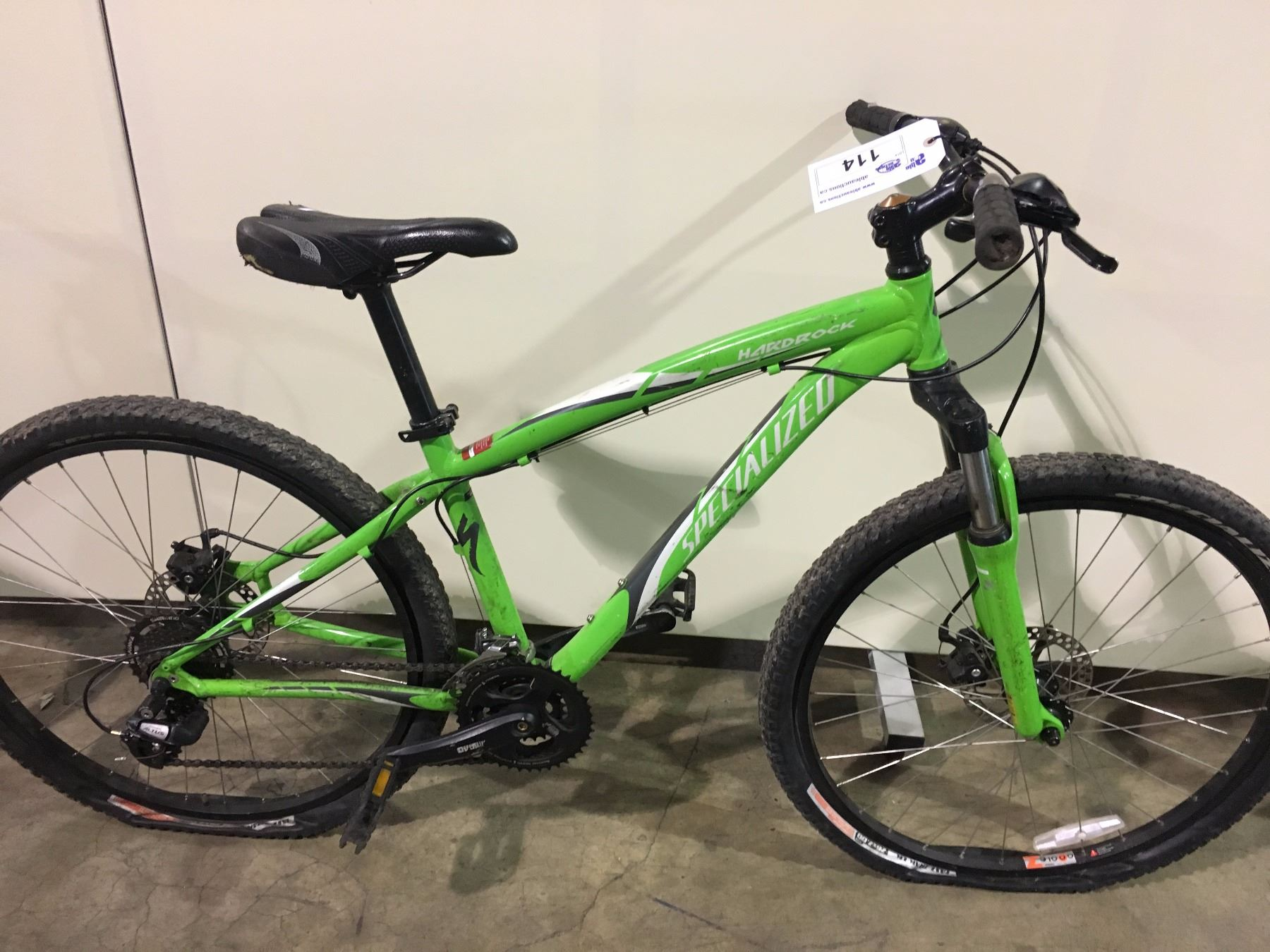 GREEN SPECIALIZED HARDROCK 21 SPEED FRONT SUSPENSION ...