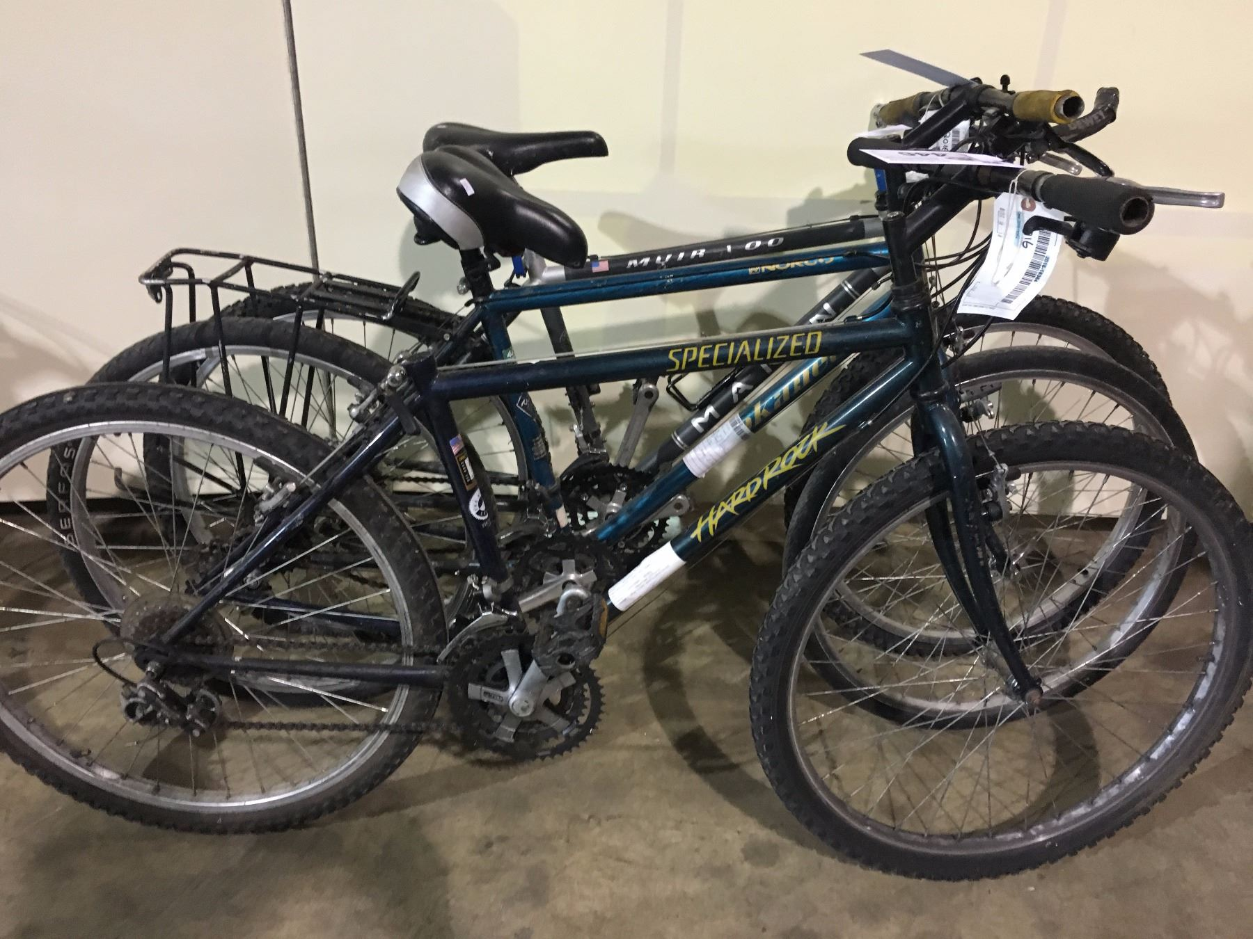 3 BIKES: GREEN SPECIALIZED MOUNTAIN BIKE, BLUE NORCO ...
