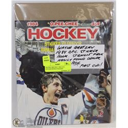 WAYNE GRETZKY 1984 O.P.C. STICKER BOOK STRAIGHT