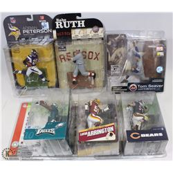 LOT OF 6 MCFARLANE SPORTS FIGURES