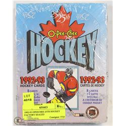 1992-93 O-PEE-CHEE 25TH HOCKEY FACTORY SEALED