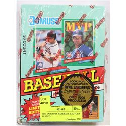 1991 DONRUSS BASEBALL FACTORY SEALED