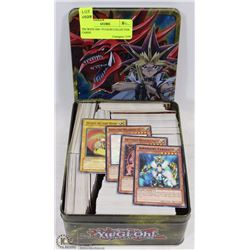 TIN WITH 500+ YUGIOH COLLECTOR CARDS