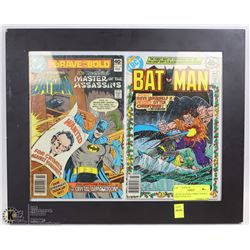 TWO DC BATMAN COMICS FRAMED FROM 1978 & 1979