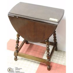 WOOD DROP LEAF SIDE TABLE