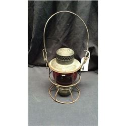 Adlake Pennsylvania Railroad Lantern Red globe