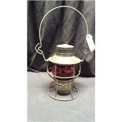 Dressel Reading Co. Trans Dept. Lantern Red CNX globe